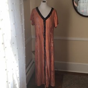Soft Surroundings Beautiful Boho Maxi Dress L/EUC!